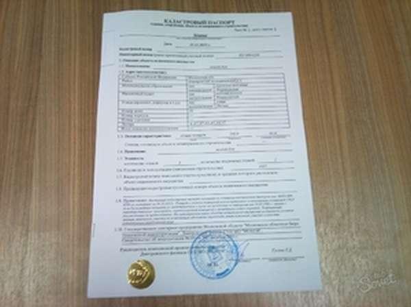 Кадастровый паспорт на недвижимость