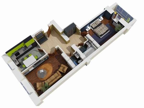 Удобная квартира-распашонка