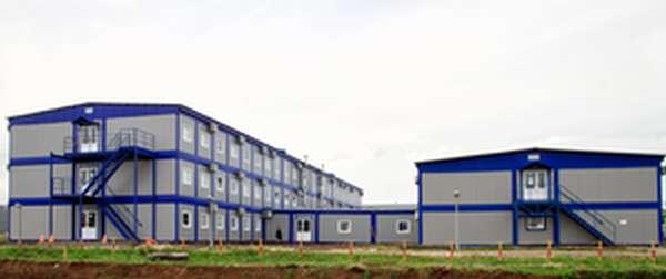 Временные административно-бытовые здания на строительной площадке