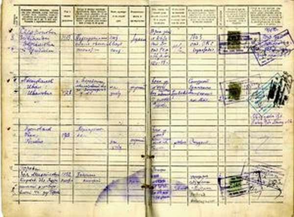 Список жильцов, прописанных по конкретному адресу