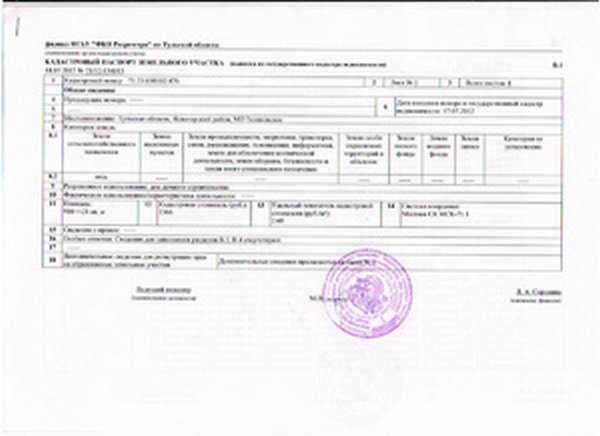 Кадастровый паспорт и его проверка онлайн