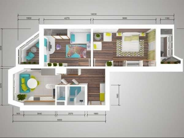 Популярность квартиры-распашонки