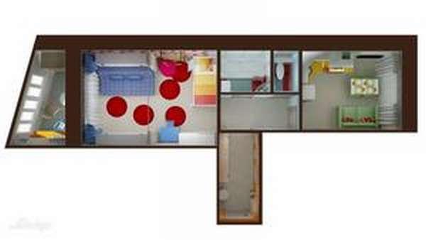 Как обустроить квартиру-распашонку