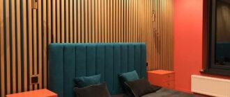 деревянные рейки в интерьере